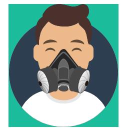 respirátory a rúška